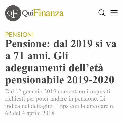 grande sistema, pensioni